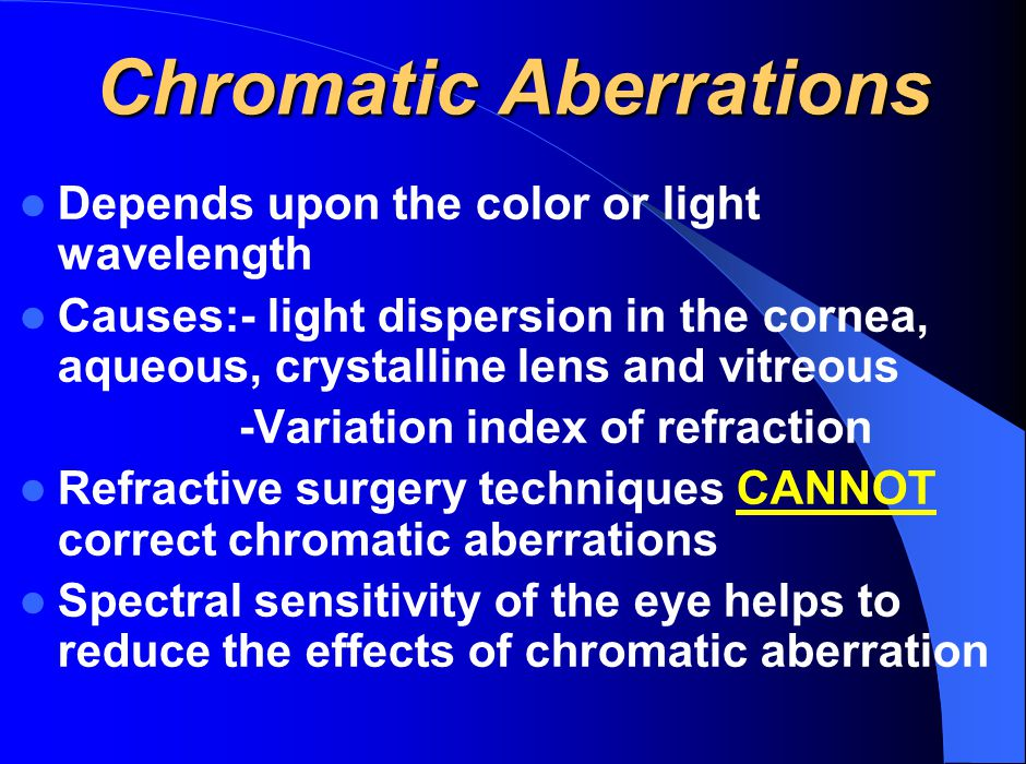 Chromatic Aberrations