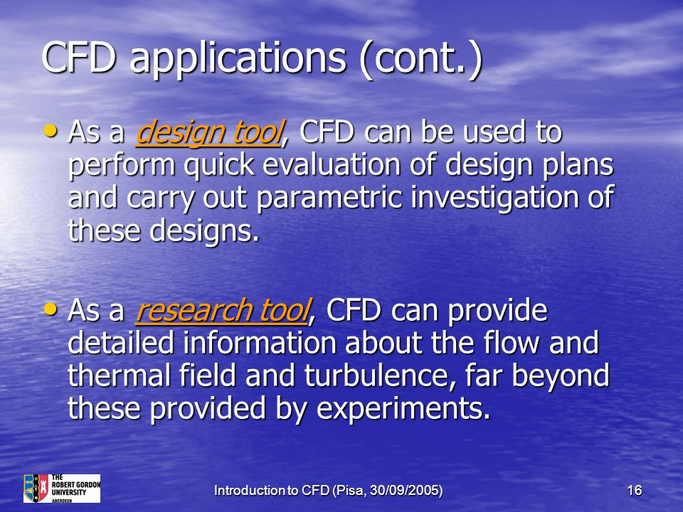 CFD applications (cont.)