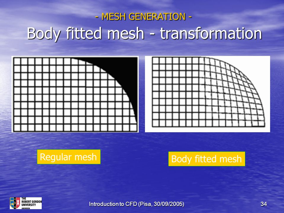 - MESH GENERATION - Body fitted mesh - transformation