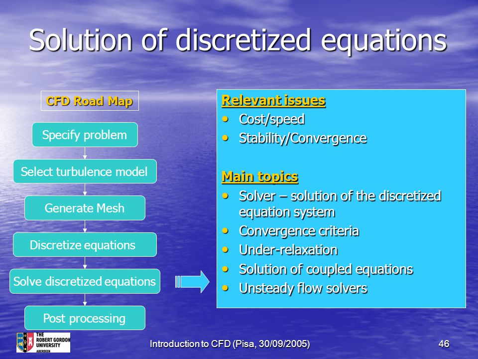 Solution of discretized equations