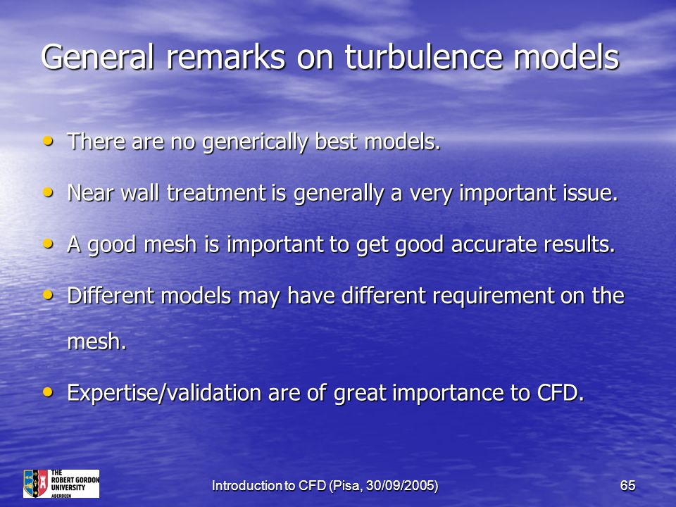 General remarks on turbulence models
