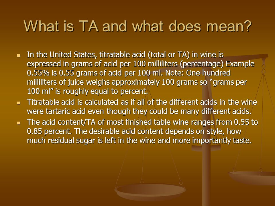 What is TA and what does mean