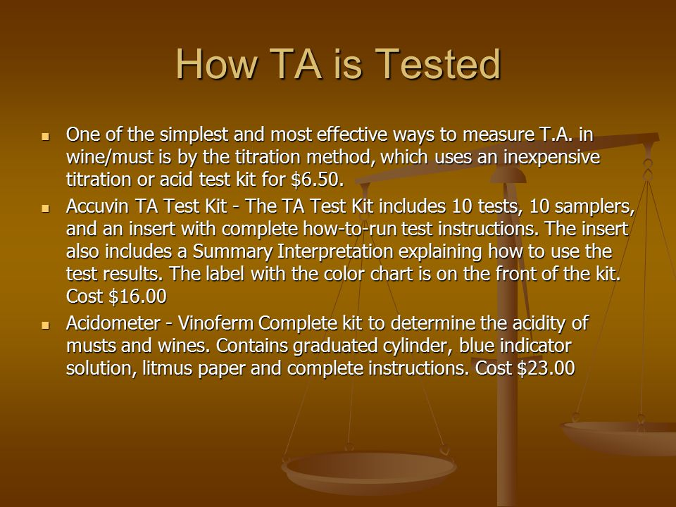 How TA is Tested