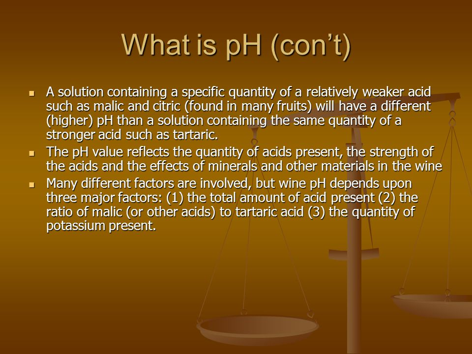 What is pH (con't)