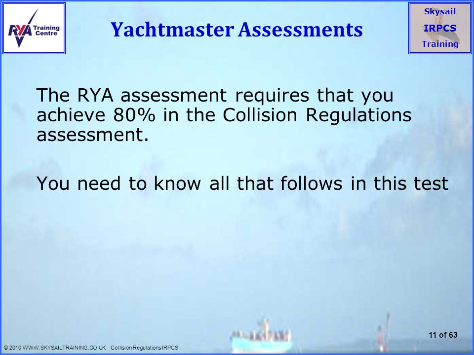 Yachtmaster Assessments