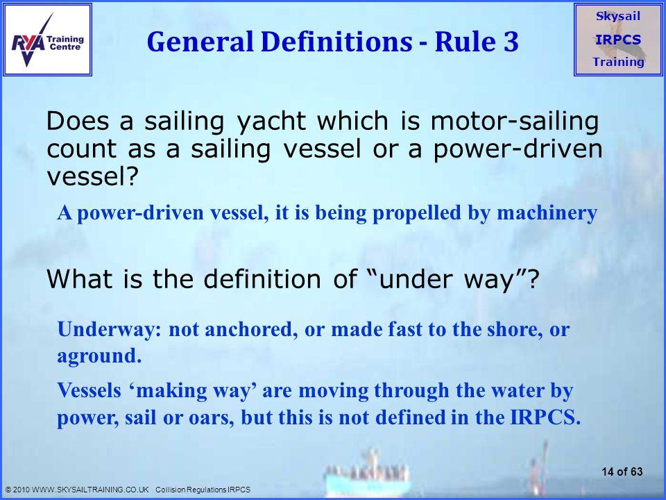 General Definitions - Rule 3