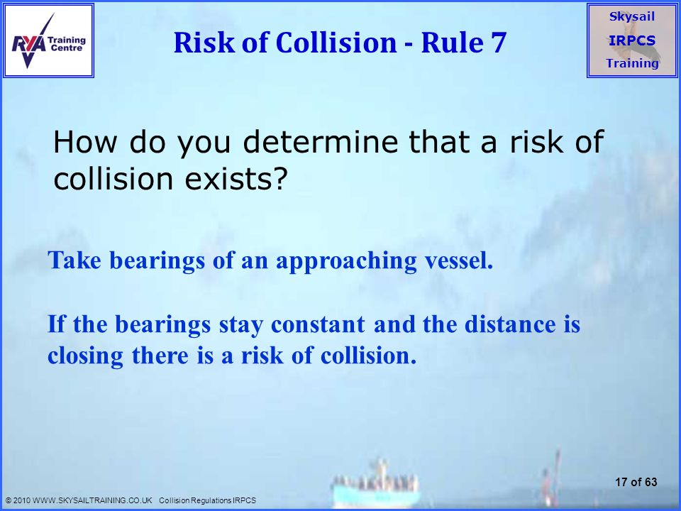 Risk of Collision - Rule 7