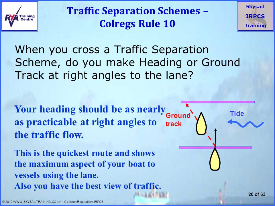 Traffic Separation Schemes – Colregs Rule 10