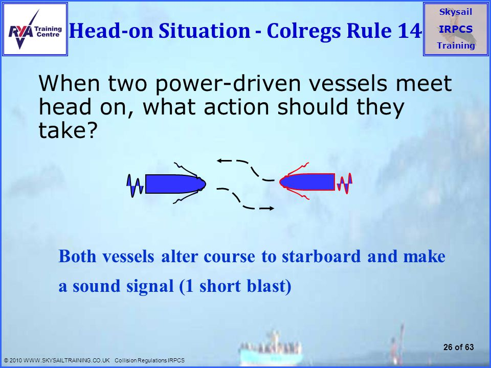 Head-on Situation - Colregs Rule 14