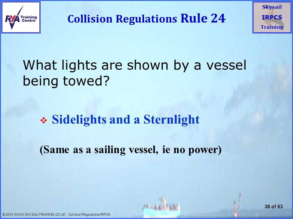 Collision Regulations Rule 24