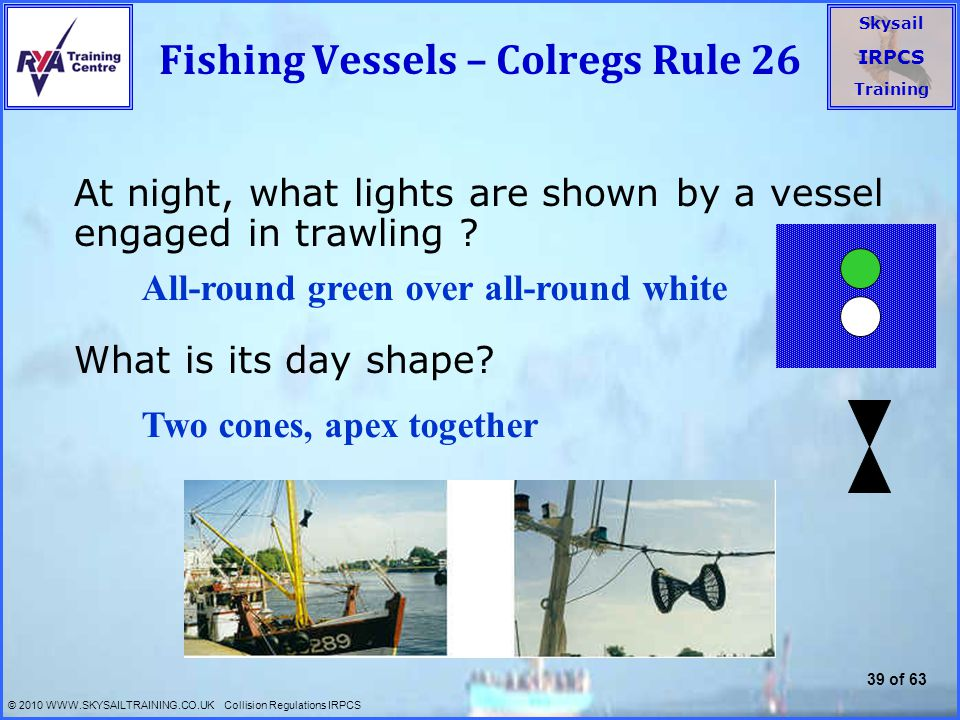 Fishing Vessels – Colregs Rule 26