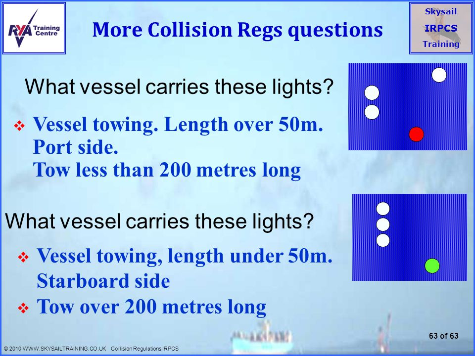More Collision Regs questions