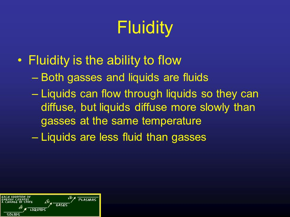 Fluidity Fluidity is the ability to flow