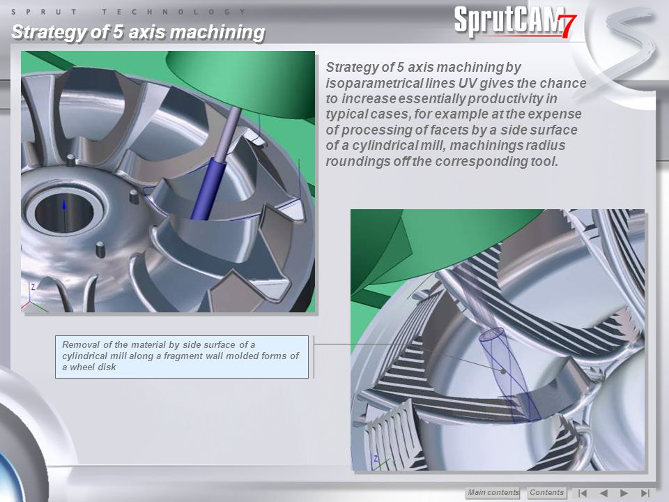 Strategy of 5 axis machining