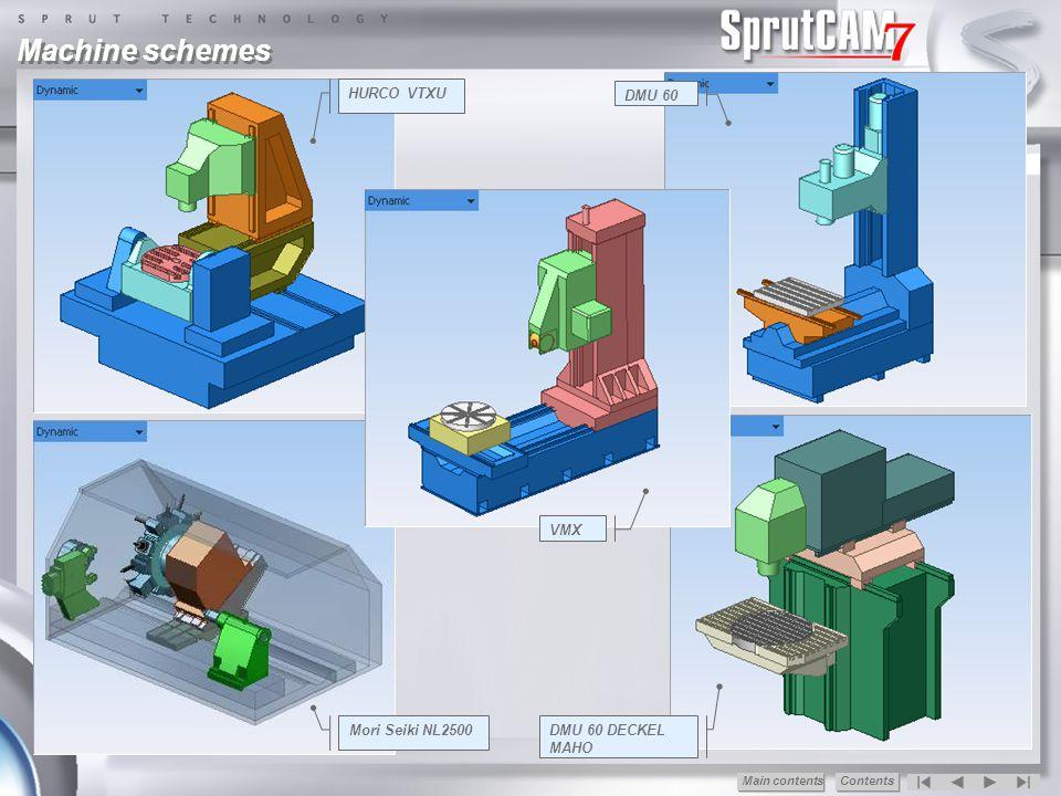 Machine schemes HURCO VTXU DMU 60 VMX Mori Seiki NL2500