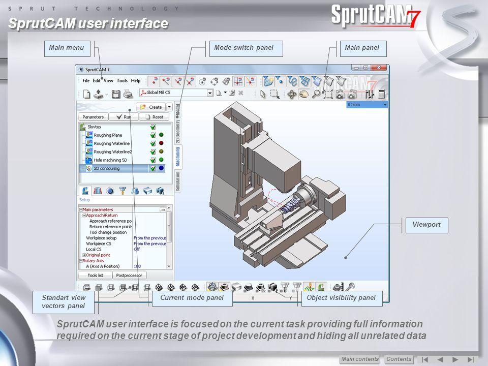 Standart view vectors panel