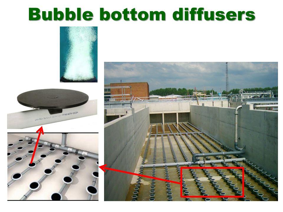 Bubble bottom diffusers