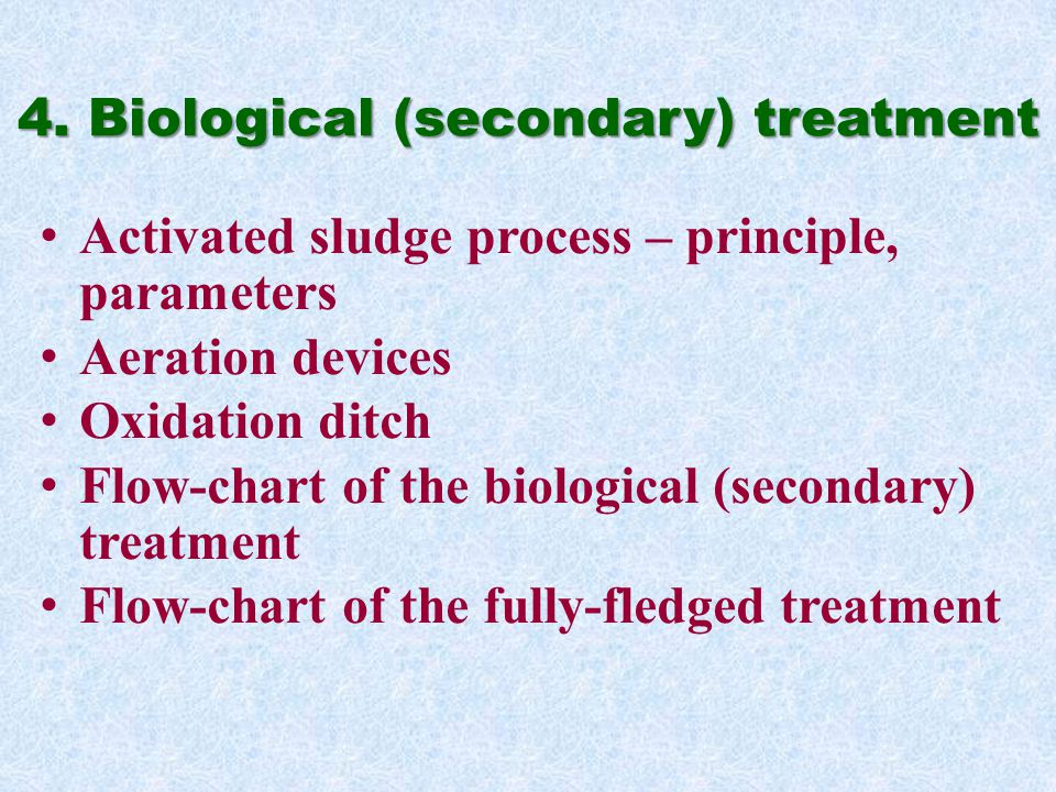 4. Biological (secondary) treatment