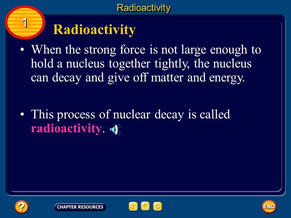 Radioactivity 1. Radioactivity.