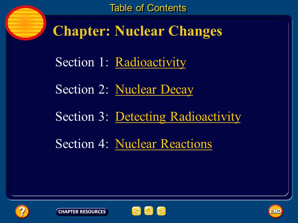 Chapter: Nuclear Changes