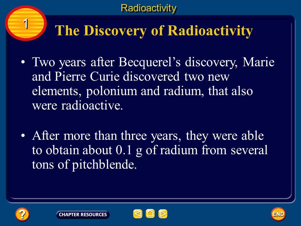 The Discovery of Radioactivity