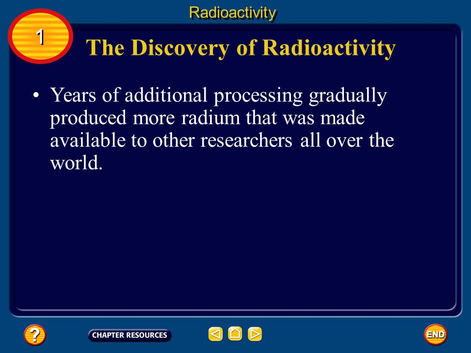 The Discovery of Radioactivity