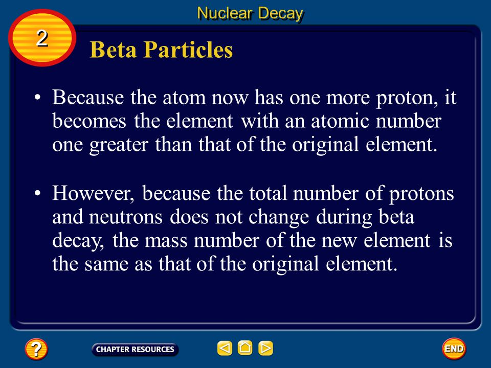 Nuclear Decay 2. Beta Particles.