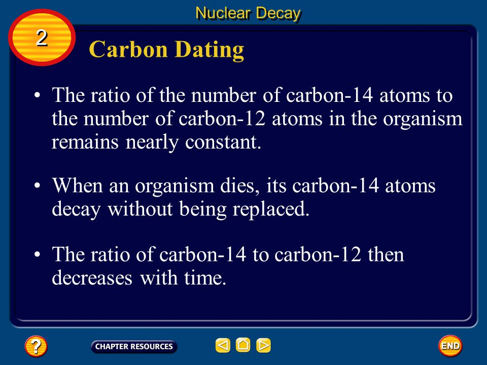 Nuclear Decay 2. Carbon Dating.