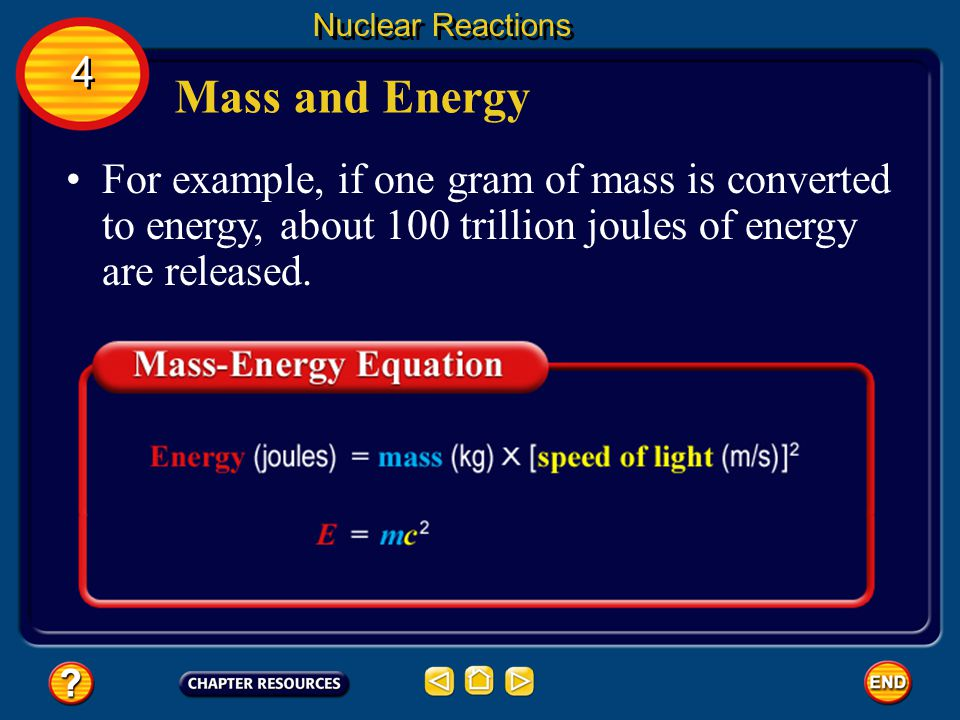Nuclear Reactions 4. Mass and Energy.
