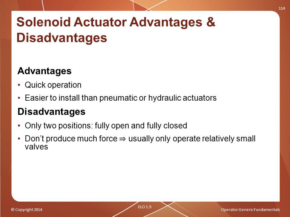 Solenoid Actuator Advantages & Disadvantages