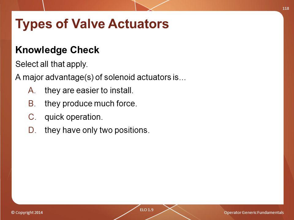 Types of Valve Actuators