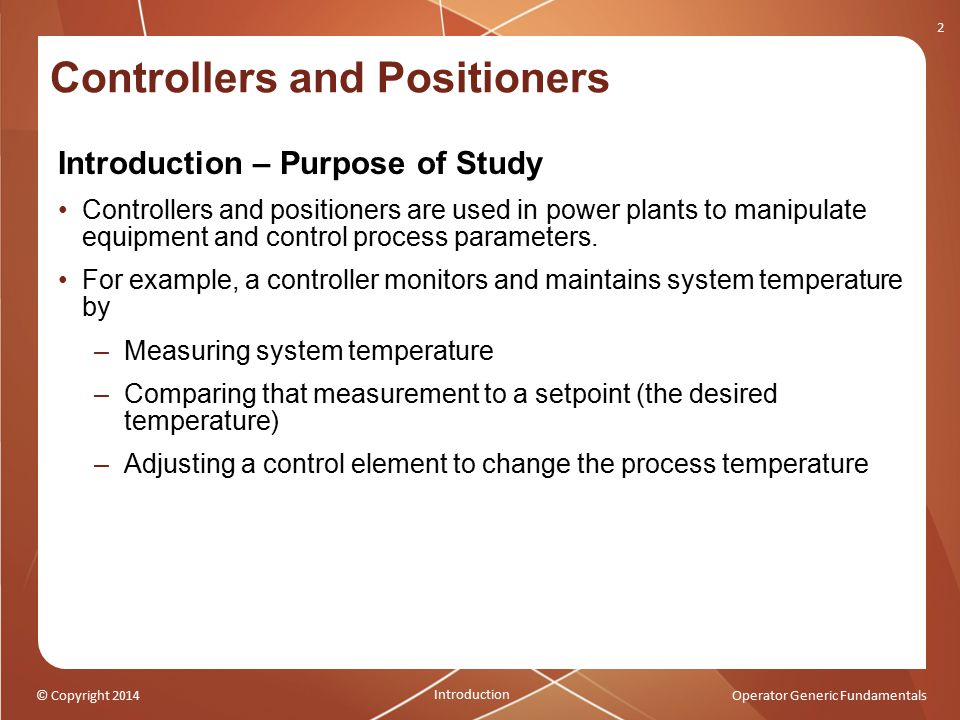 Controllers and Positioners