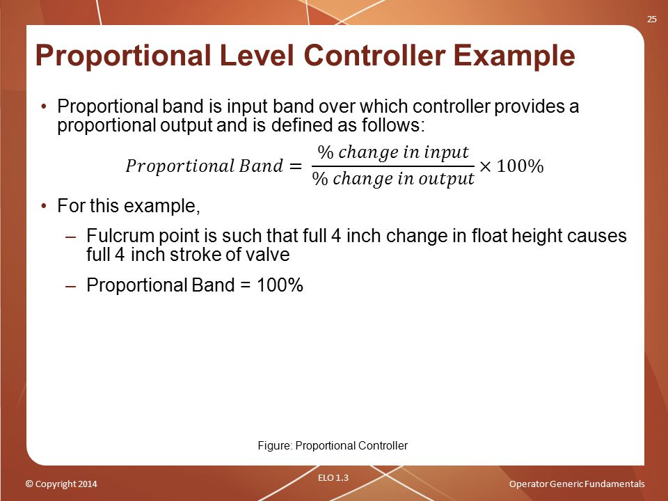 Proportional Level Controller Example