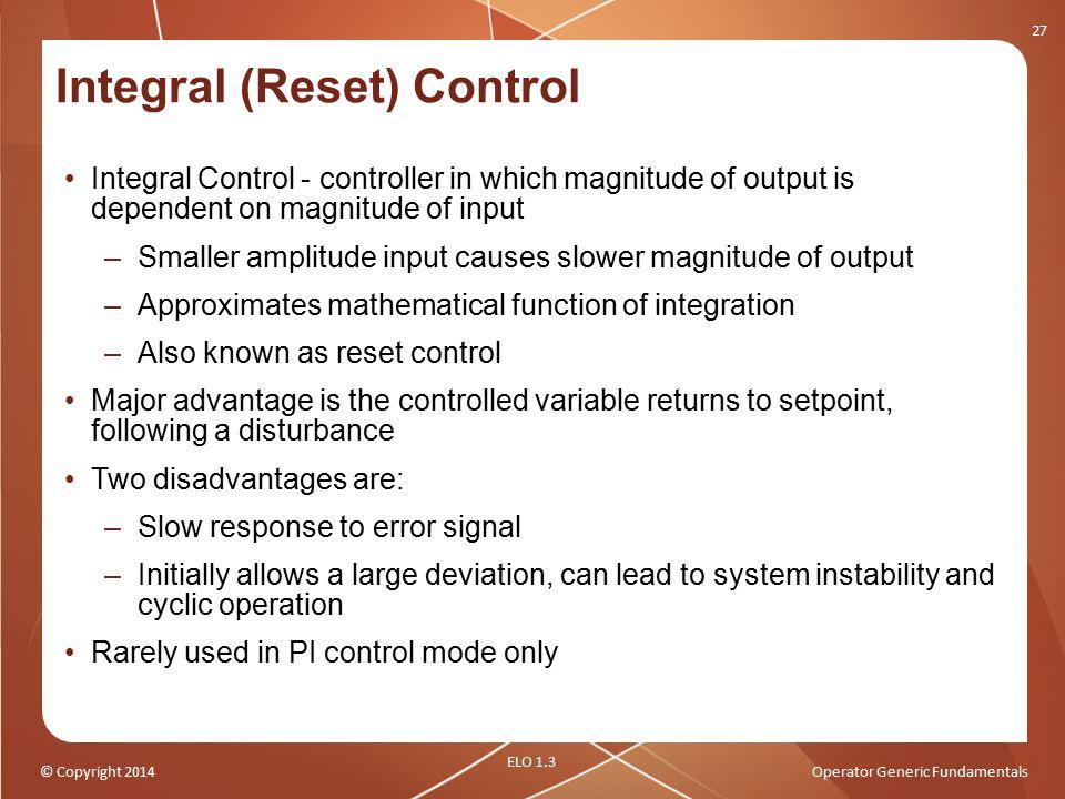 Integral (Reset) Control