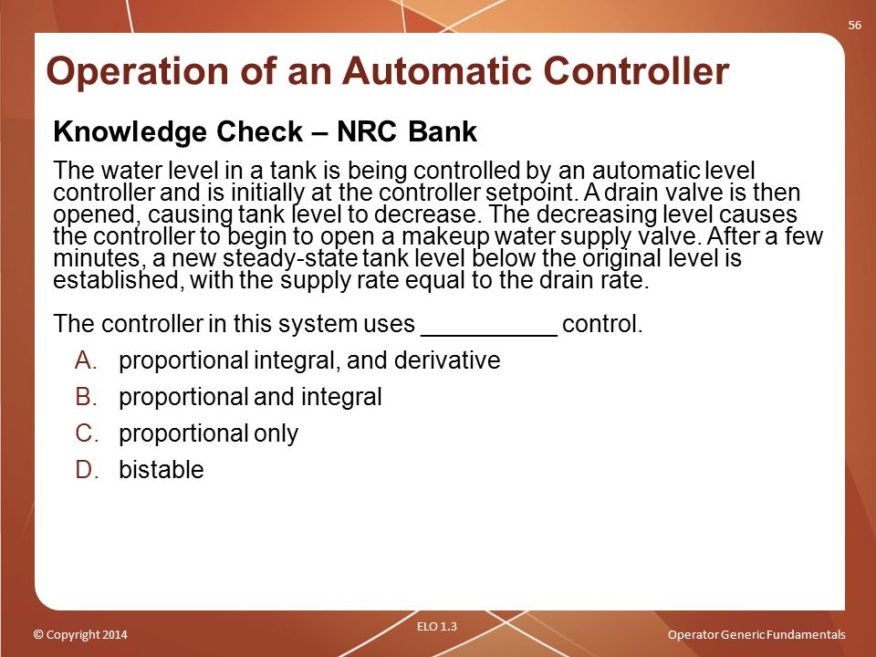 Operation of an Automatic Controller