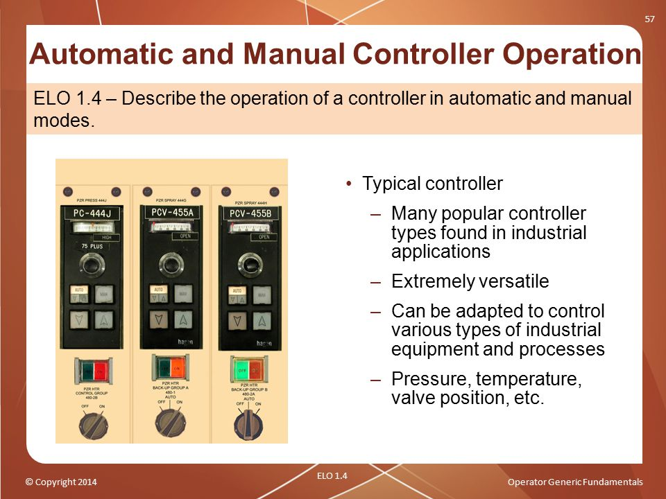 Automatic and Manual Controller Operation