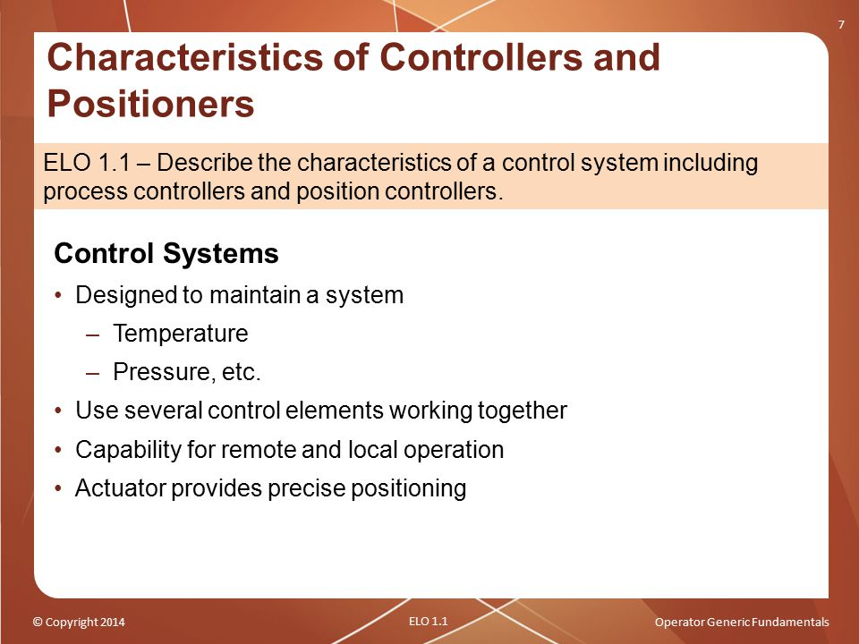 Characteristics of Controllers and Positioners