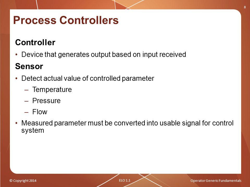 Process Controllers Controller Sensor