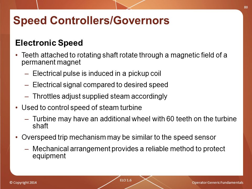 Speed Controllers/Governors