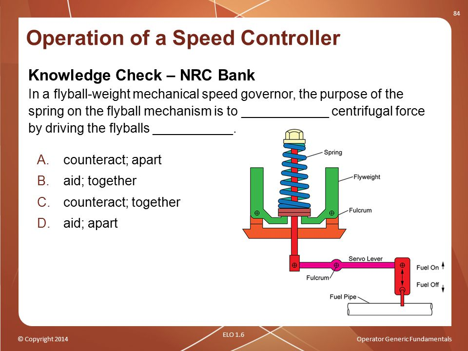 Operation of a Speed Controller