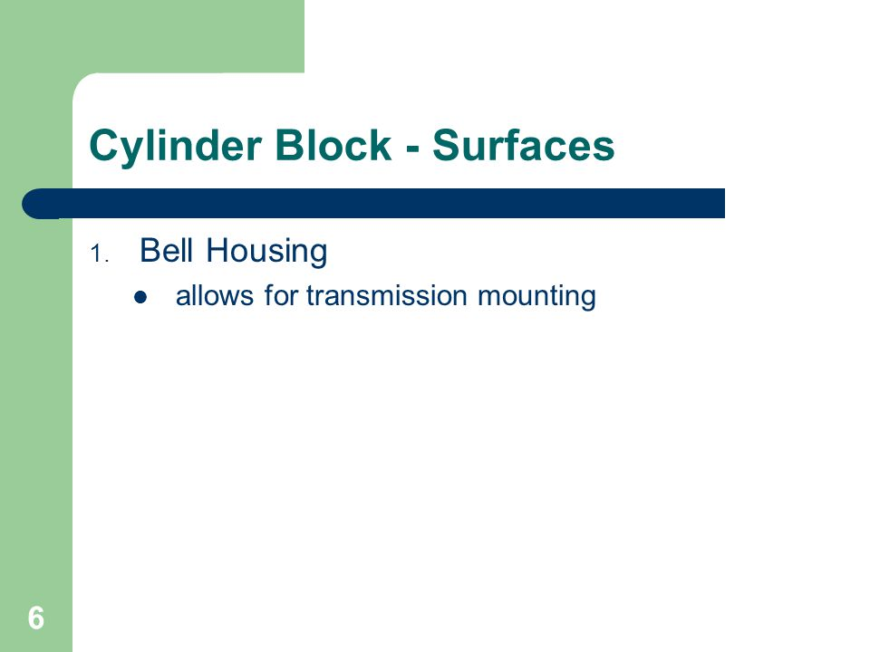 Cylinder Block - Surfaces
