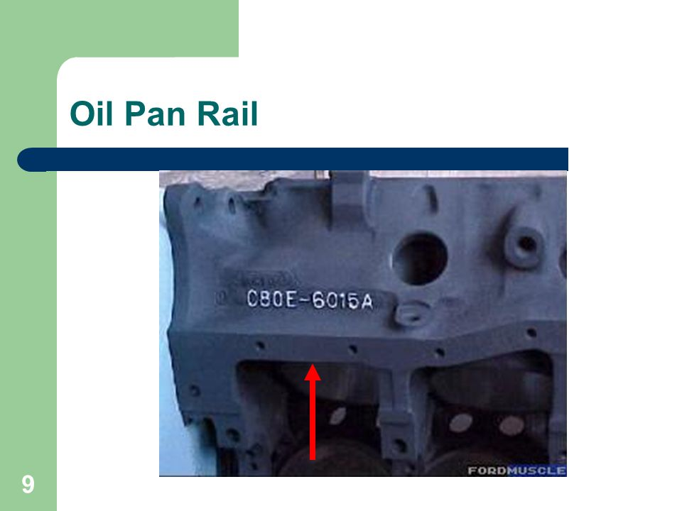 Oil Pan Rail