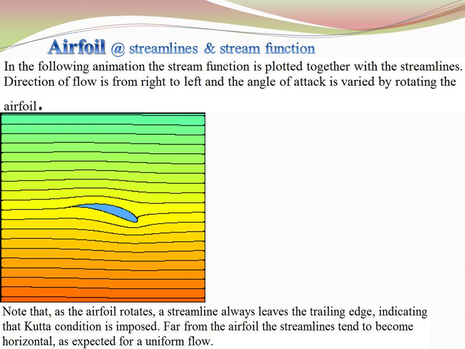 Airfoil @ streamlines & stream function