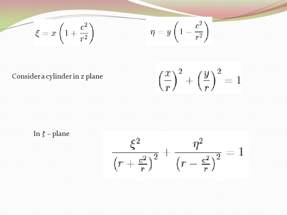 Consider a cylinder in z plane