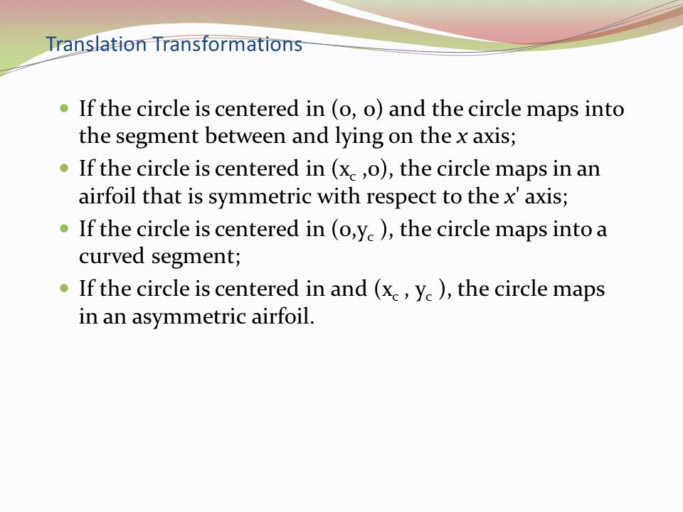 Translation Transformations