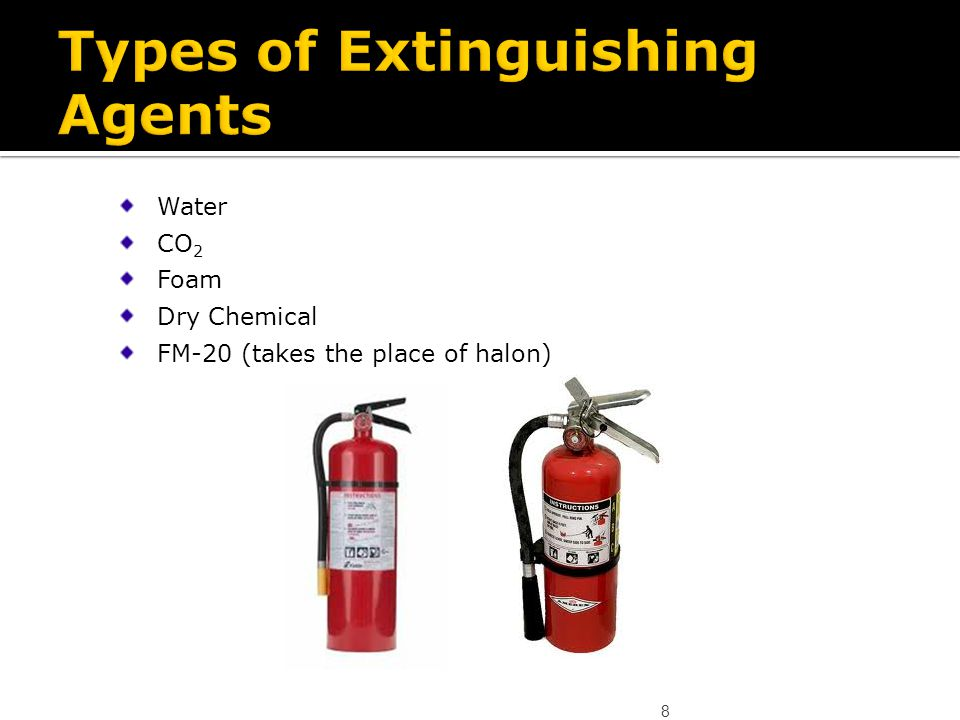 Types of Extinguishing Agents
