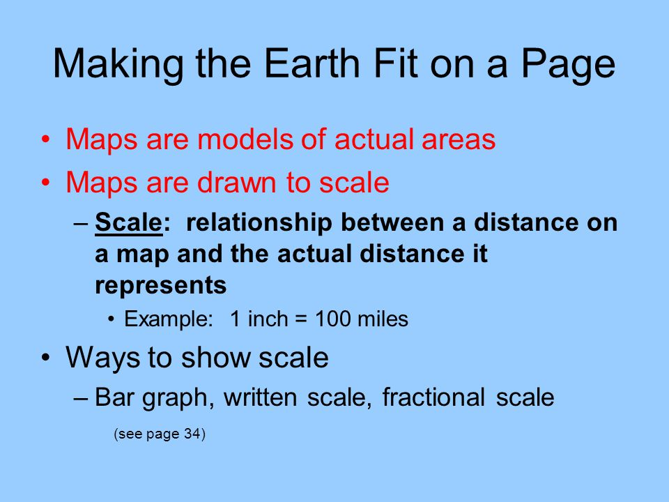 Making the Earth Fit on a Page