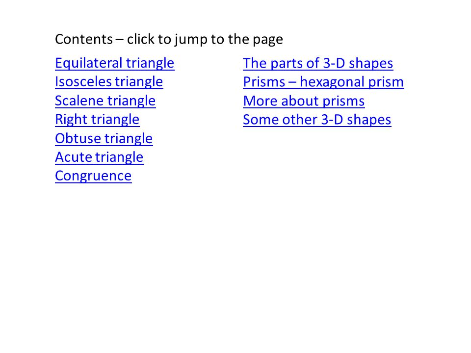 Contents – click to jump to the page