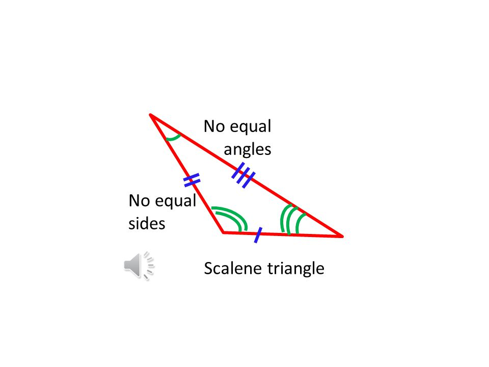 Scalene triangle No equal sides No equal angles
