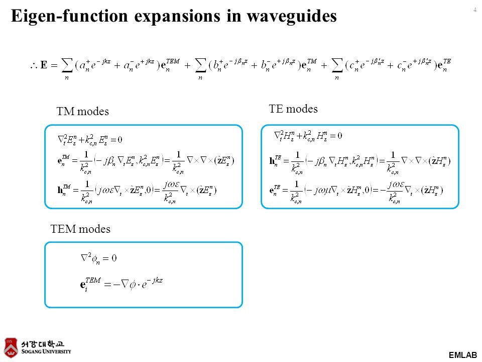 Eigen-function expansions in waveguides